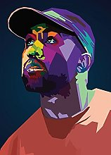 NOVELOVE Rapper Poster Dipinti su Tela Musica