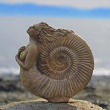 NSXBY Antica Donna Ammonita Statua,Handmade Sirena