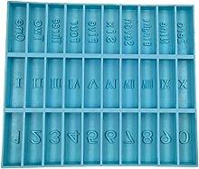 Numeri arabi romani Gioco del domino Resina Stampo