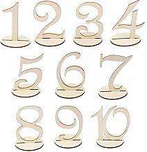 Numeri da Tavolo in Legno con Base Segnaposto