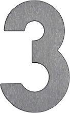 Numero civico 3 - di acciaio inox