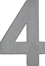 Numero civico 4 - di acciaio inox
