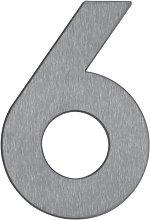Numero civico 6 - di acciaio inox