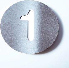 Numero civico Round di acciaio inossidabile - 1