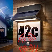 Numero civico solare in alluminio. Lampada solare