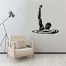 Nuotatore sportivo Nuoto Adesivo murale Adesivo