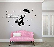 Nuovo Mary Poppins con Ombrello citazione stella