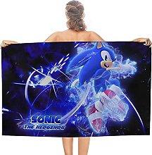 Nuovo Sonic Hedgehog double face pile Asciugamani