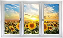 NYJNN 3D adesivi murali 3d finestra adesivo