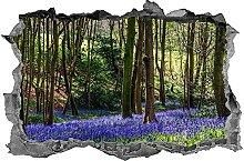 NYJNN 3D adesivi murali adesivo, bosco, alberi,
