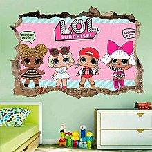 NYJNN Adesivi Murali Adesivo Murale Lol Doll