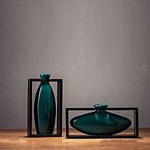 NZNZ 2 Pz/Set Ceramica Vasi Telaio Quadrato