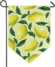 Oarencol acquerello giallo limoni grande bandiera