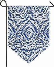 Oarencol, bandiera da giardino bohémien blu,