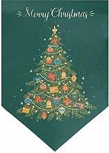 Oarencol - Bandiera per albero di Natale, grande