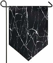 Oarencol Black Marble Art - Grande bandiera a