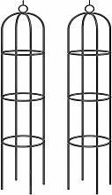 Obelisco per rampicanti 2 pezzi 200x40cm arco per