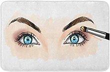 Occhi con ombre e mascara vista ravvicinata a mano