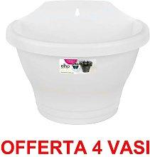 OFFERTA 4 VASO CORSICA WALL BASKET 25CM WHITE -