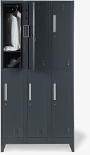 Office24 - Armadietto con 6 scomparti 90x45 H180