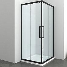 Ogomondo box doccia angolare corner black nero