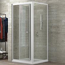 Ogomondo cabina doccia book 3 lati trasparente