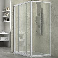 Ogomondo cabina doccia slide 2 lati trasparente