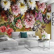 OHEHE Adesivo da Parete fiore di peonia 350CM x