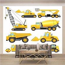 OHEHE Adesivo Murale Camion giallo di ingegneria