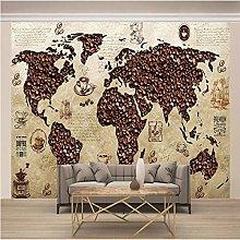 OHEHE Adesivo Murale Mappa vintage dei chicchi di