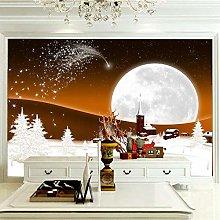 OHEHE Adesivo Murale Natale al chiaro di luna
