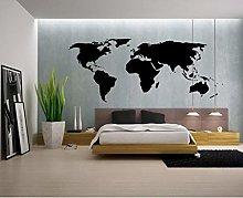 Olivialulu Grande Mondo Mappa Adesivo Profilo