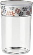 Omada Design Barattolo da 1L in plastica, chiusura