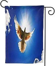 OMNVEQ Bandiera da Giardino Bird Sky Banner in