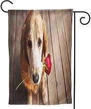 OMNVEQ Bandiera da Giardino Bocca di Rose Dog 62