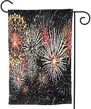 OMNVEQ Bandiera da Giardino Fuochi d'artificio