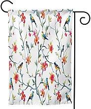 OMNVEQ Bandiera da Giardino Humming Bird Tree