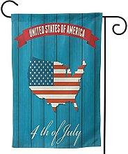 OMNVEQ Bandiera da Giardino Mappa USA 93 Banner in