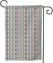 OMNVEQ Bandiera da Giardino Piastrellatura
