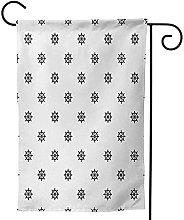 OMNVEQ Bandiera da Giardino Ruota della Nave 3