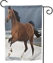 OMNVEQ Bandiera da Giardino Spiaggia a Cavallo