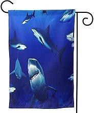 OMNVEQ Bandiera da Giardino Squali Banner in