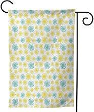 OMNVEQ Bandiera da Giardino Tarassaco Circolare