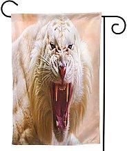 OMNVEQ Bandiera da Giardino Tigre Ruggente Banner