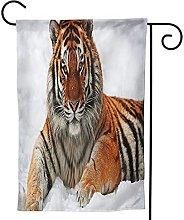 OMNVEQ Bandiera da Giardino Tigri Selvatiche