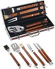 Ompagrill Set Kit Accessori 5 pz griglia Barbecue