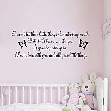 One Direction Song Lyrics Little Things Adesivo