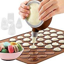 opamoo Set per Macarons 48 Fori Stampo in Silicone