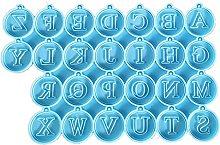 Opawilojao, orecchini a forma di lettera in resina