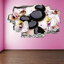 Orchidea Flowers 3D Adesivo arte muro Adesivo